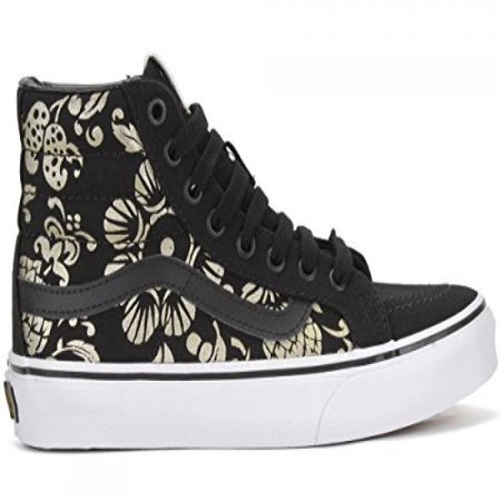 7b4f9d49188 VANS - Vans Unisex Shoes SK8-Hi Slim Classic (50TH) Anniversary Black With Gold  Sneakers (4 MEN S   5.5 WOMEN S) - Walmart.com
