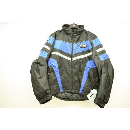 Black & Blue Storm Motorcycle Jacket Mens Medium