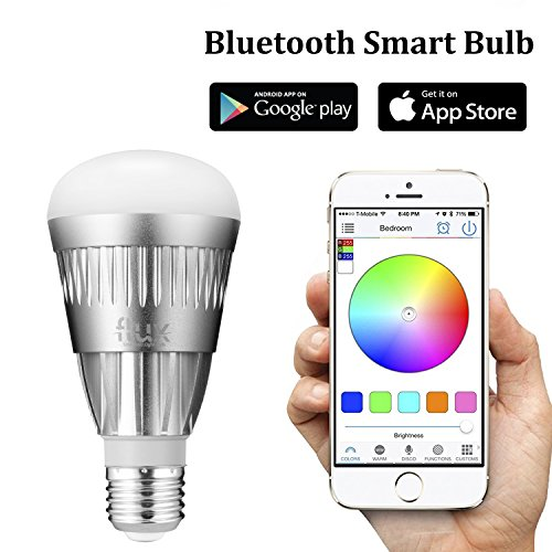 iphone controlled lighting wifi flux bluetooth smart led light bulb smartphone controlled dimmable multicolored color changing lights works
