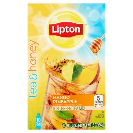 (6 Boxes) Lipton Mango Pineapple Iced Green Tea To-Go Boxesets, 10