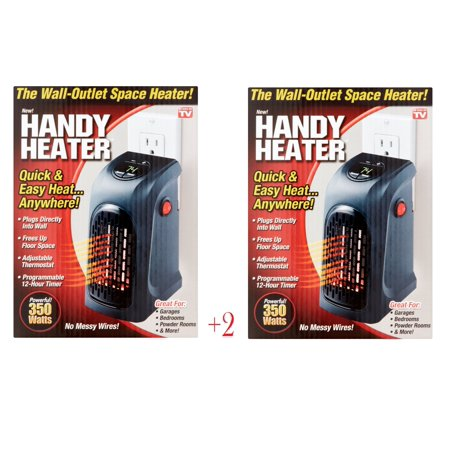 As Seen on TV Handy Space Heater, 350 watts 2 PACK