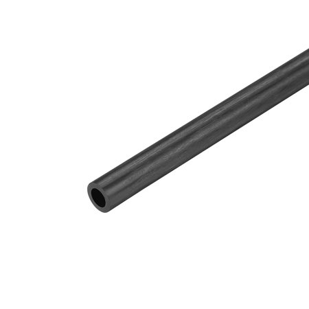 Carbon Fiber Round Tube 5mm x 3mm x 200mm Carbon Fiber Wing Pultrusion Tubing for RC Airplane 1 Pcs