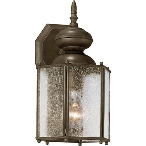 """Progress Lighting P5777 Roman Coach 1 Light 13"""" Tall Outdoor Wall Sconce with Clear Seeded Glass Panels"""
