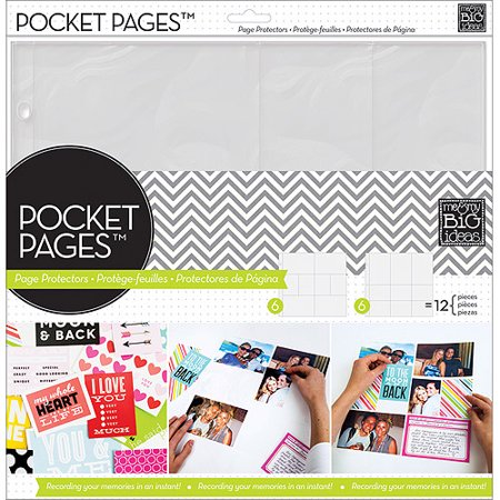 Me And My Big Ideas Pocket Pages Photo Protectors  12   X 12    12 Sheets