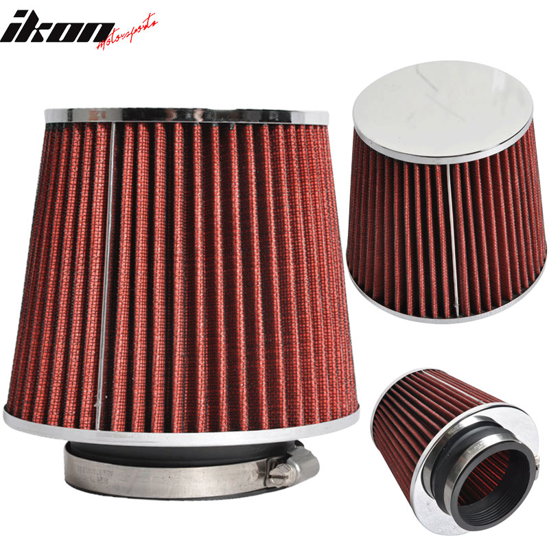 3.5 Inch Race Performance Cold Air Intake Cone Filter Red Benz SL SLK Series
