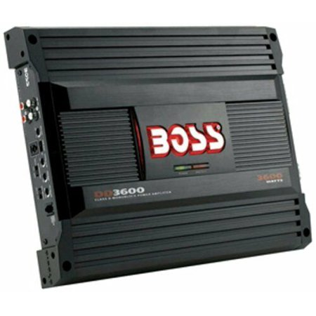 Boss - DD3600 - Class D Monoblock Amplifier with Maximum Power 3600 Watts Maximum Power Amplifier