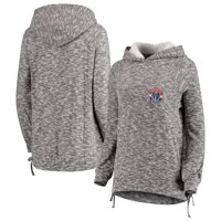Washington Wizards FISLL Women's Side Lace Sherpa Hacci Tri-Blend Pullover Hoodie - Heathered Gray