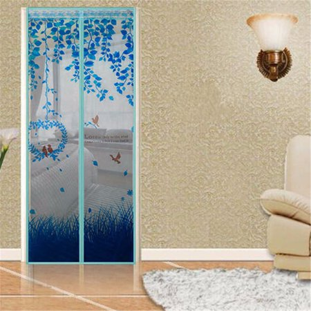 Mesh Screen Door 100x210cm Avoiding Mosquito Net Bug Fly Pet Patio Hands Free Magnetic Closer ()