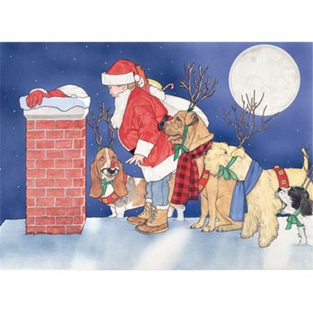 Pipsqueak Productions C310 Mix Dog  Holiday Boxed Cards