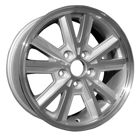 2005-2009 Ford Mustang  16x7 Alloy Wheel, Rim Sparkle Silver Painted with Machined Face - 3587 - Silver Face