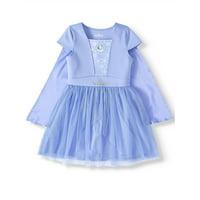 Disney Frozen 2 Princess Elsa or Anna Cosplay Dress With Detachable Cape (Little Girls & Big Girls)