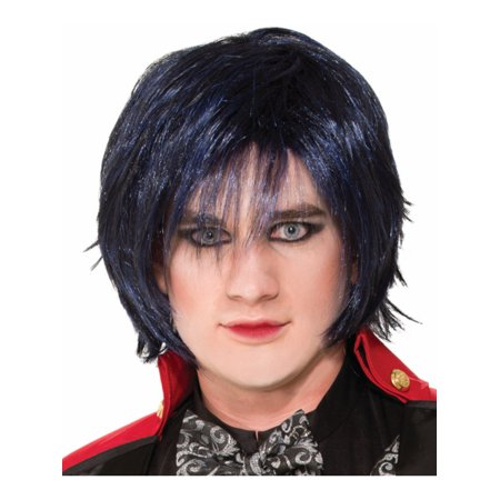 Adult Black Indigo Twisted Attraction Midnight Blue Messy Bob Wig - North West Halloween Attractions