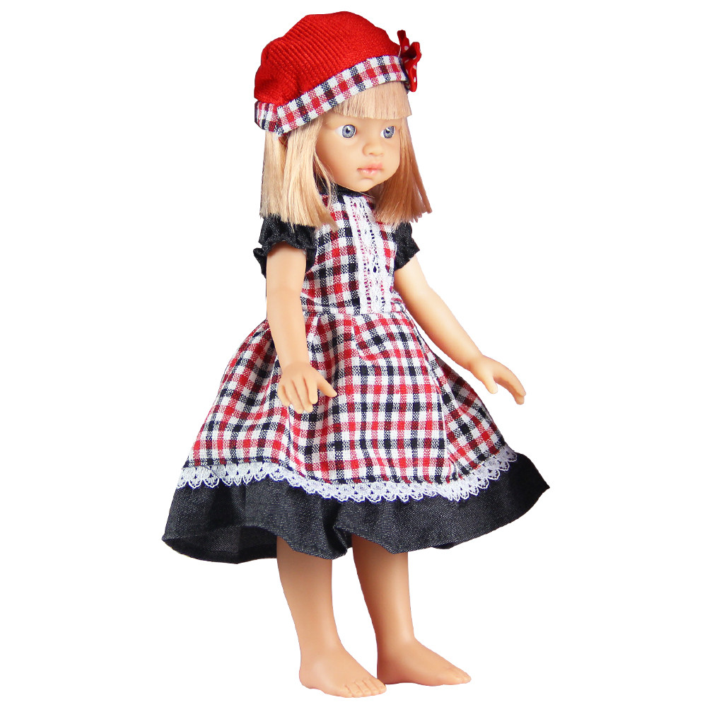 DZT1968 Beautiful Checker Clothes Lovely Girl Doll Baby Doll Realistic Reborn Dolls Toys