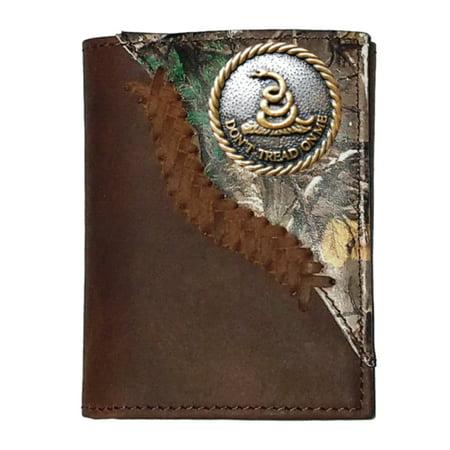 Custom Don't Tread On Me Realtree AP trifold wallet (Texas Tri Fold Wallet)