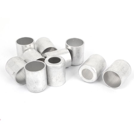 Unique Bargains 30mm Dia Silver Tone Aluminum Cylinder Tube Joint Fitting Sleeve 10PCS for - Aluminum Tube Sleeve