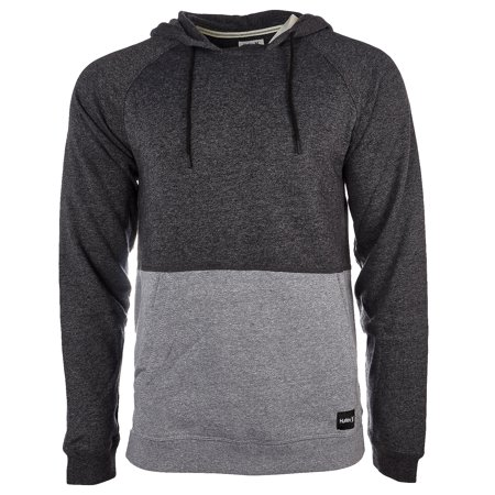 Hurley Crone Marled Texture Pullover Hoodie - Black Heather - Mens - XL