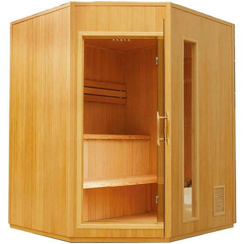 ALEKO SE3CSAN 4-Person Canadian Hemlock Wood Indoor Wet Dry Sauna with 4.5 KW ETL... by ALEKO