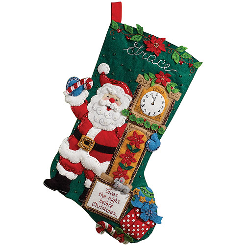 Bucilla Felt Stocking Kit, 'Twas The Night