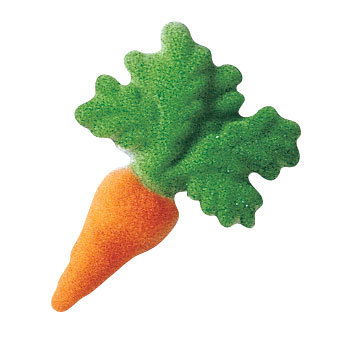 Carrot Sugar Decorations Toppers Cupcake Cake Cookies Easter Favors Party 12 Count