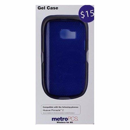 Metropcs Soft Gel Case For Huawei Pinnacle 2   Blue