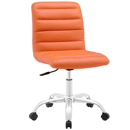 Pleasing Hawthorne Collection Mid Back Armless Swivel Office Chair In Orange Ncnpc Chair Design For Home Ncnpcorg