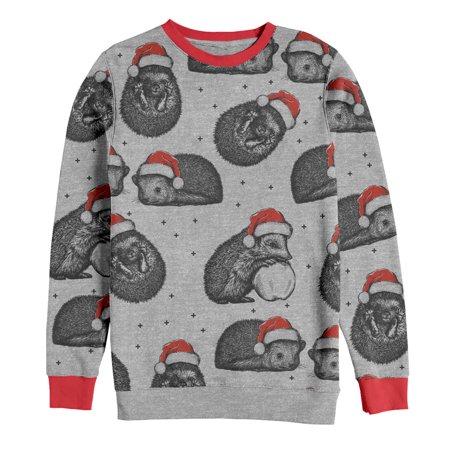 Hedgehog Christmas Sweater.Women S Christmas Hedgehog Snow Party All Over Sweatshirt