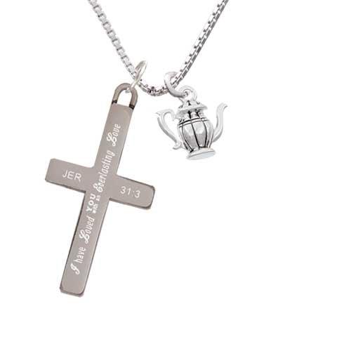 Delight Tea Pot - Everlasting Love - Cross Necklace