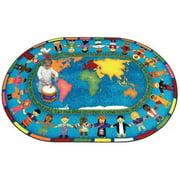 Joy Carpets Let the Children Come Kids Area Rug