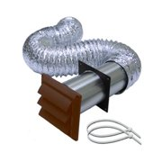 Lambro Industries 1377B 4-Inch x 5-Ft. Brown Louvered Hood Vent Kit