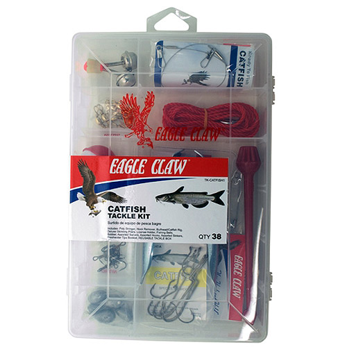 Eagle Claw Catfish Tackle Kit with Utility Box by Eagle Claw Fishing Tackle