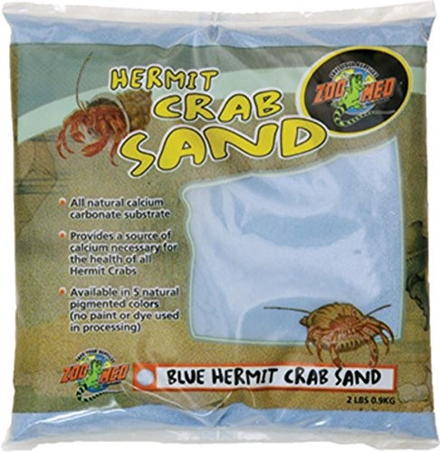 Zoo Med Hermit Crab Sand, 2 Lb, Blue