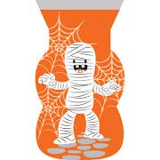 Club Pack of 240 Orange Halloween Fun Mummy Cello Party Favor Loot Bags with Zipper 9""