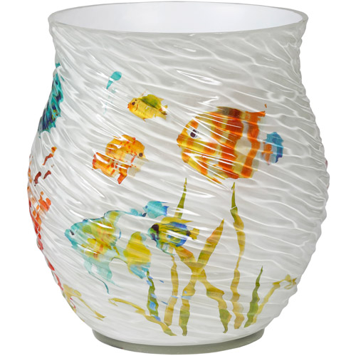 Creative Bath Rainbow Fish Resin Waste Basket, Multi-Color