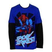 Spider-Man Spidey Strikes Marvel Comics Superhero Youth Longsleeve T-Shirt Tee