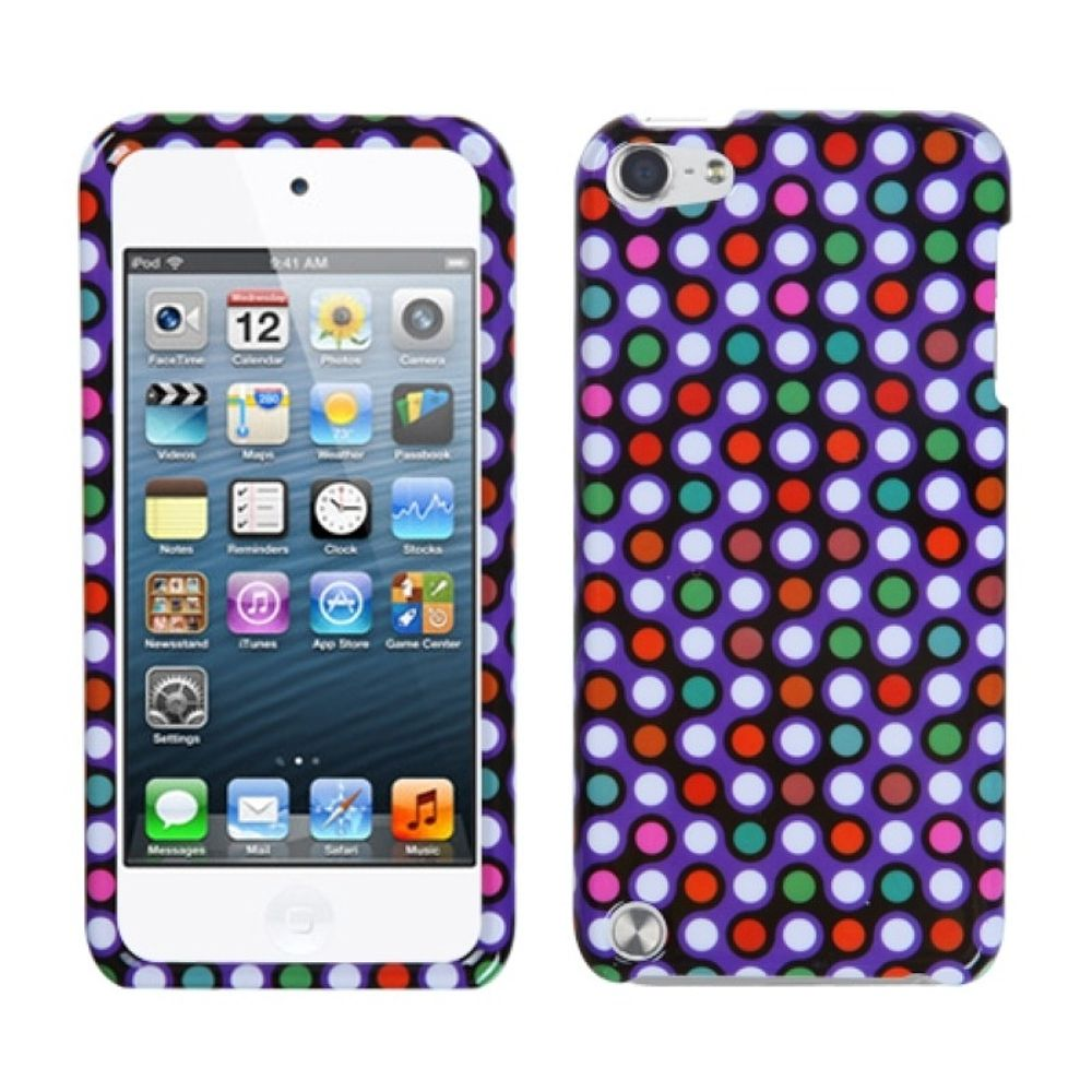 Insten Grid Dots Hard Cover Case For Apple iPod Touch 5th Gen/6th Gen - Purple/Other