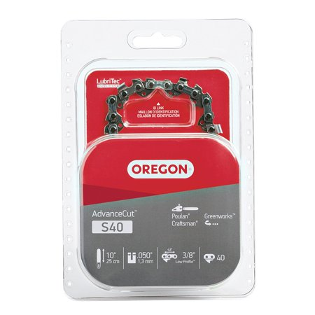 S40 10-Inch Semi Chisel Chain Saw Chain, Fits Craftsman, Poulan, Remington, Not all chains will fit all saws brands mentioned on the packaging, to make.., By