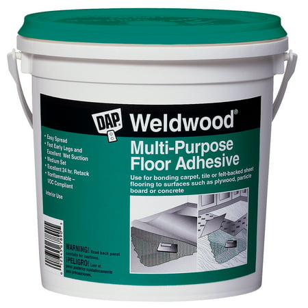 DAP Weldwood Wood Floor Adhesive, 1 QT Off White