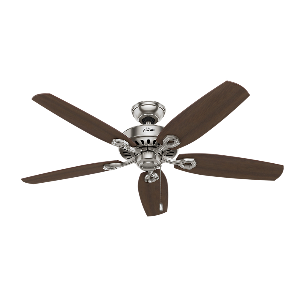 "Hunter 52"" Builder Elite Brushed Nickel Ceiling Fan by Hunter Fan Co"
