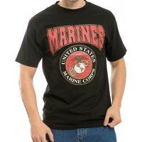 RapDom United States Marines Classic Military Mens Tee [Black - L]
