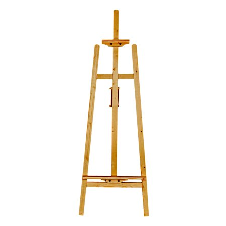 3 Way Adjustable Easel (Ktaxon 5ft Wood Easel Stand, Adjustable French A-Frame Triopd Floor Easel Stand, for Studio Hotel Art Display, Pefect for Student Outdoor/Indoor Painting, Drawing & Sketching )
