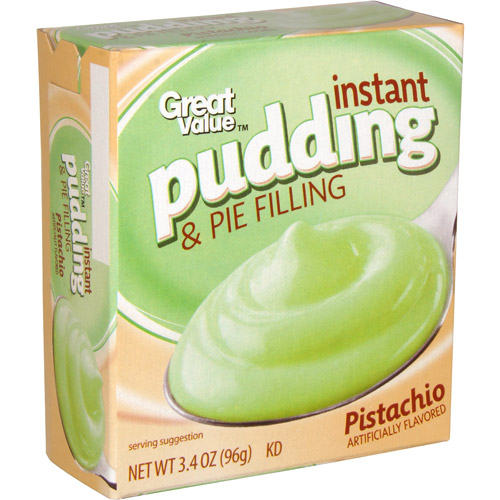 Great Value Pistachio Instant Pudding & Pie Filling, 3.4 oz