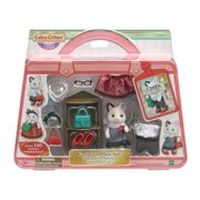 Calico Critters Fashion Playset Tuxedo Cat, Dollhouse Playset with Figure and Fashion Accessories Ages 3 Years +.