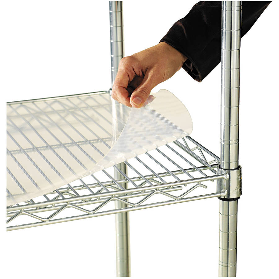 Alera Shelf Liners for Wire Shelving, Clear Plastic, 4-Pack, Available in Multiple Sizes
