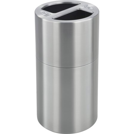 Safco, SAF9931SS, Dual Recycling Receptacle, 1, Stainless Steel ()