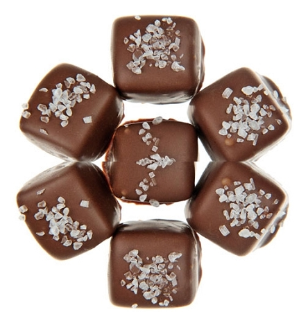 Milk Chocolate Sea Salt Caramels, 5 Pounds by