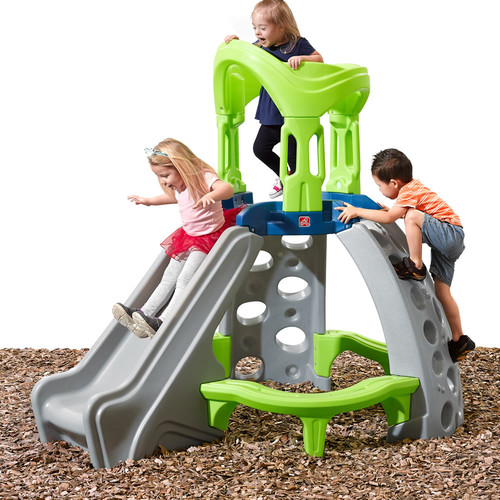Step2 Castle Top Mountain Climber with 2 climbing rock walls and slide