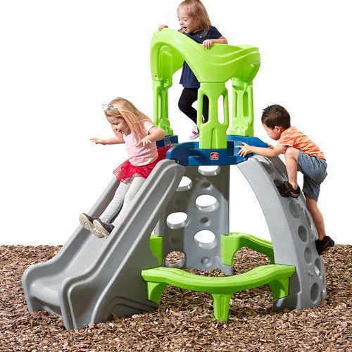 Step2 Kid's Castle Top Outdoor Mountain Climber with 2 Climbing Rock Walls and Slide