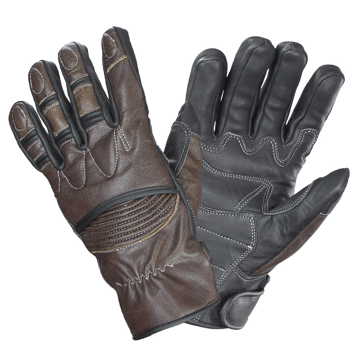 Xelement UK2678 Vagabond Mens Brown/Black Leather Gloves