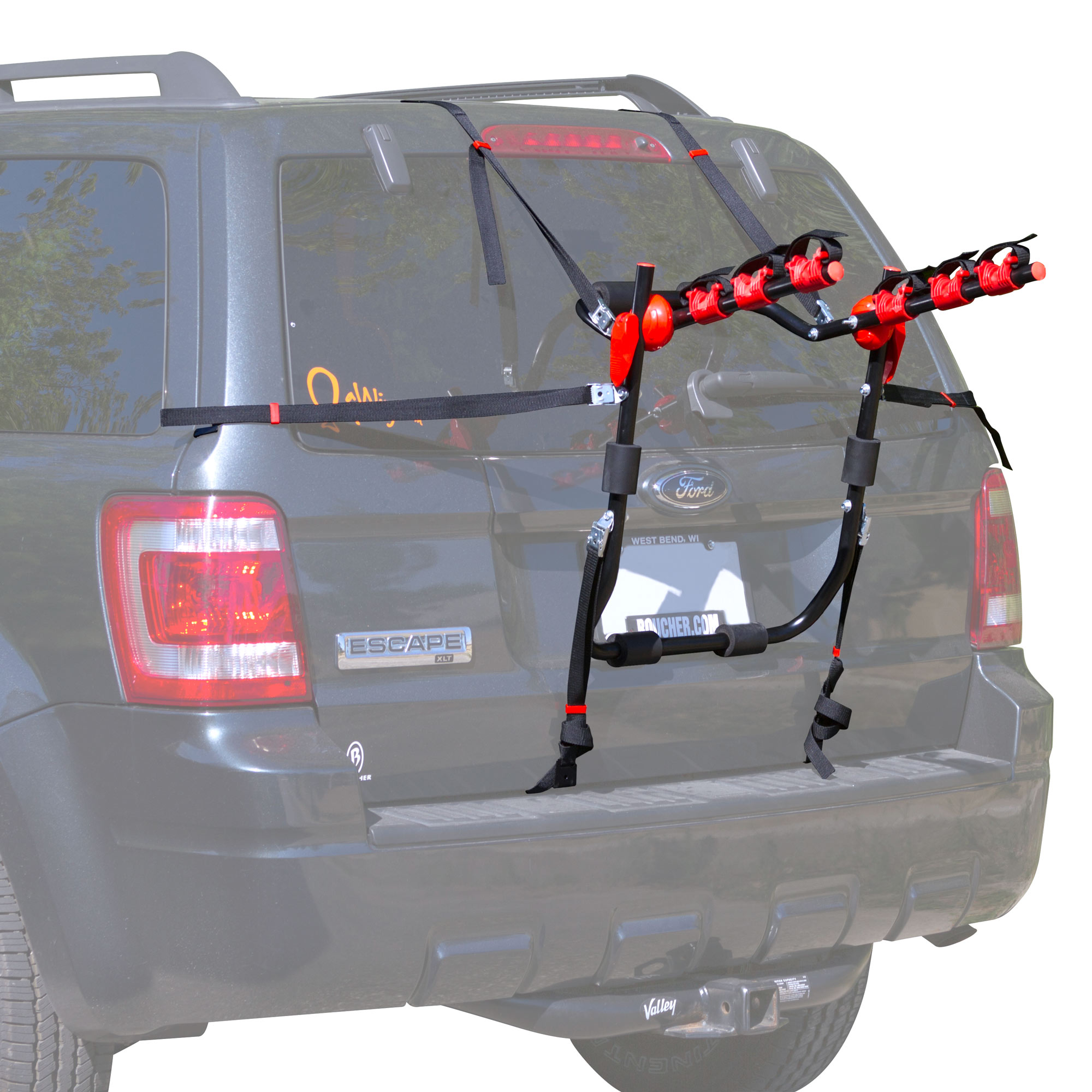 Scout 3-Bike Trunk Mounted Bicycle Carrier Rack by Rage Powersports