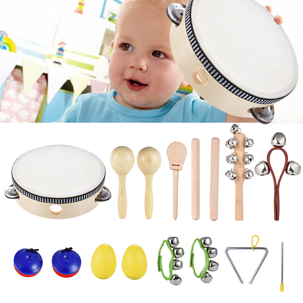 Educational Learning Toy Kids Toddler Bell Jingle Percussion Musical Instrument